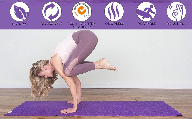 YogiMall Yute Natural Conjunto de Estera de Yoga - amigable ...