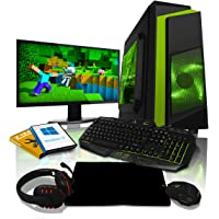 ADMI GAMING PC PACKAGE: 21.5 Inch 1080p Monitor, Keyboard, Mouse and Gaming Headset AMD A10-9700 3.8GHz Quad Core Radeon R7 1TB HDD, 8GB RAM, Wifi, F3 Gaming Case, Windows 10)