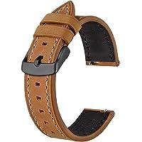 BISONSTRAP Correas de Reloj de Cuero, Correa de Repuesto de Liberación Rápida para Hombres y Mujeres, 18mm 19mm 20mm…