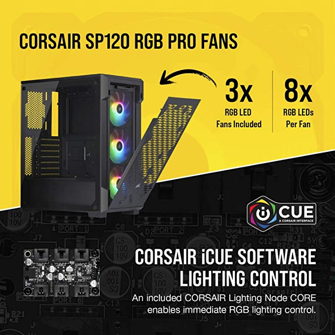 Corsair iCUE 220T RGB Airflow, Tempered Glass Mid-Tower ATX Smart Gaming  Case, Black