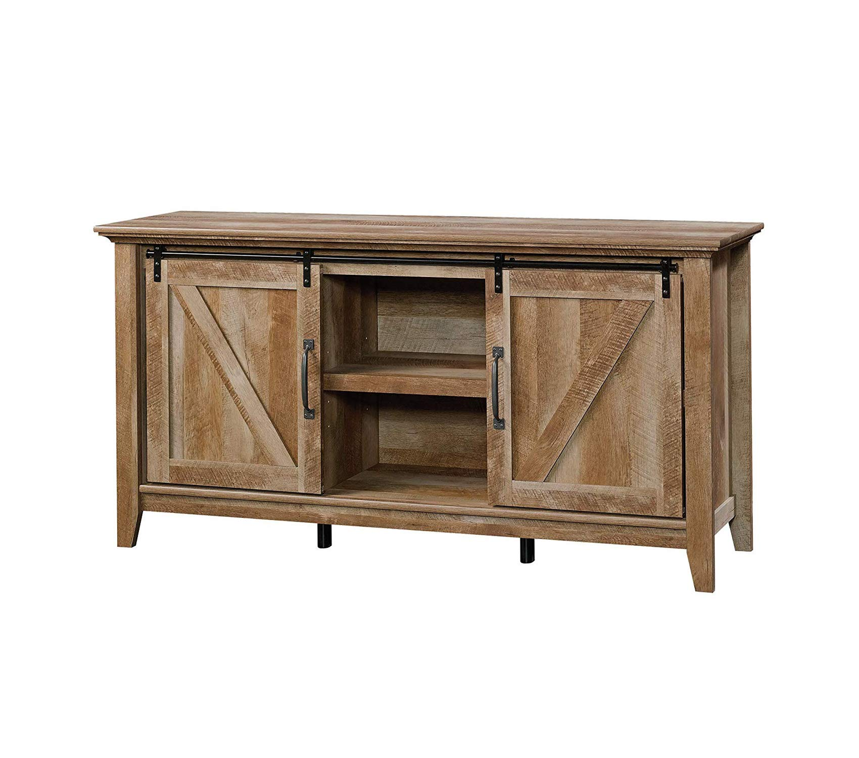 Wood & Style Furniture Dakota Pass Credenza for TV's up to 70'' Craftsman Oak Finish Premium Office Home Durable Strong by Wood & Style