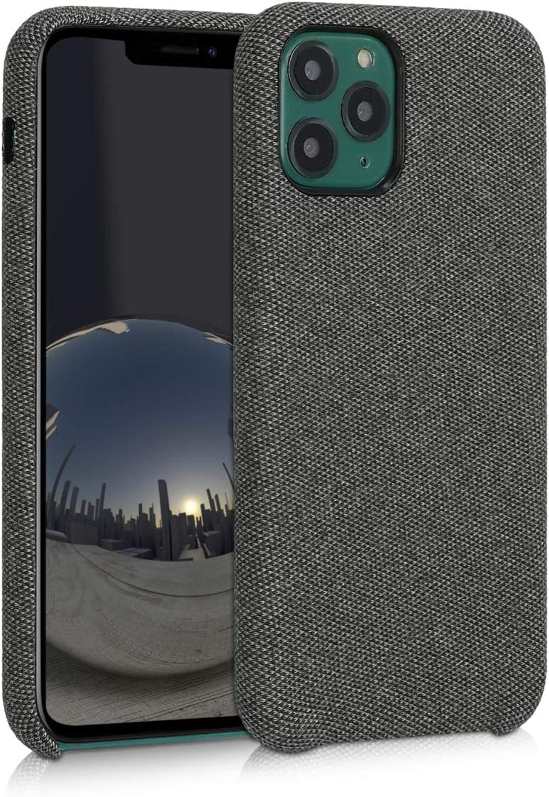 kwmobile TPU Case Compatible with Apple iPhone 11 Pro - TPU and Fabric Smartphone Cell Phone Cover in Canvas