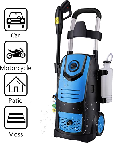Suyncll High Power Washer Electric Pressure Washer,3800PSI 2.8GPM Pressure Washer Car Patio Garden Yard Cleaner Blue
