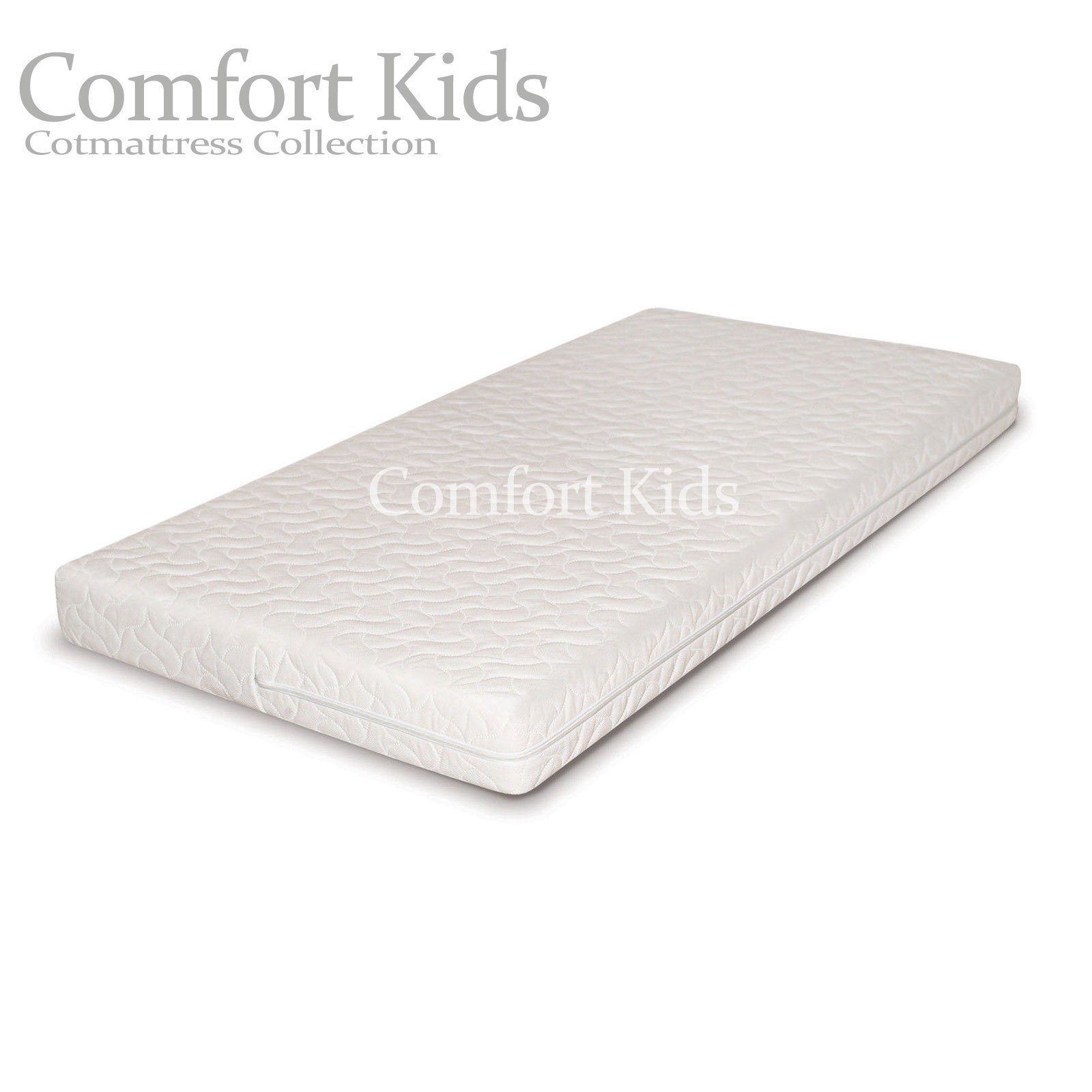 H /& H Traders Quilted Anti-Allergenic Breathable Foam Cot Mattress 126 x 62.5 x 10 cm