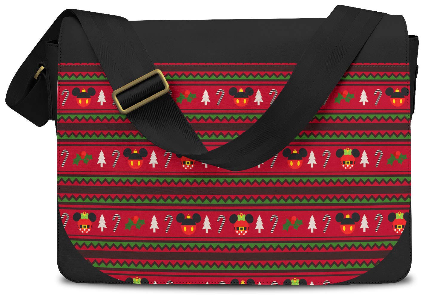 One Size Messenger Bag Christmas Mickey /& Minnie Sweater Pattern Disney Inspired Messenger Bag