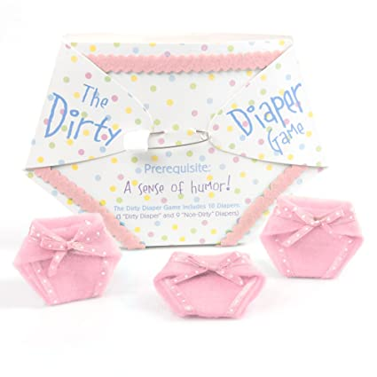 Amazon Com The Dirty Diaper Game Baby Shower Game Pink 10