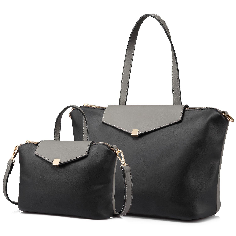 ca85a9ca253 LOVEVOOK Tote Bag Handbags for Women Shoulder Bag 2 pcs Purse Set Designer  Top handle Satchel with Removable Strap