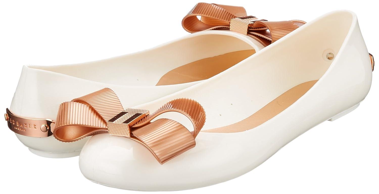 Ted Baker Damen Larmiar Gold Geschlossene Ballerinas Weiß (Weiß/Rose Gold Larmiar #Ffffff) 03bd57