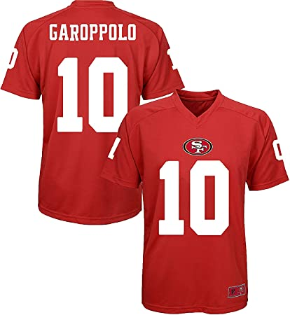 41a4479e7 OuterStuff Jimmy Garoppolo San Francisco 49ers #10 Youth Red Performance  Fashion Player Jersey (Small
