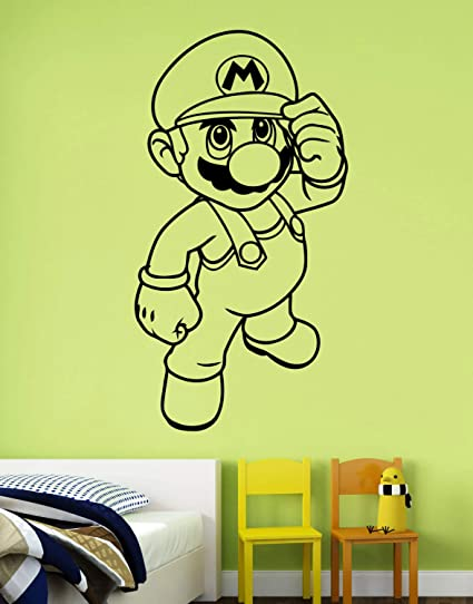 Super Mario Vinilo Pared Pegatina Pared Calcomanía