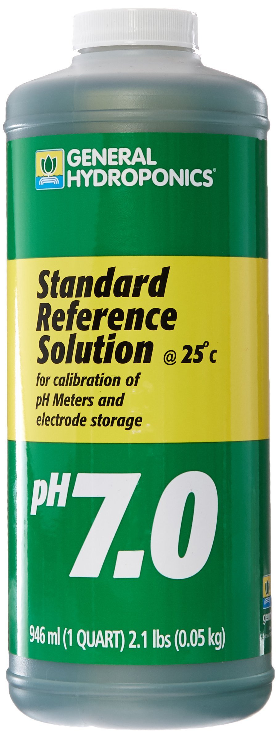 General Hydroponics PH 7 Calibration Solution for Gardening, 1-Quart