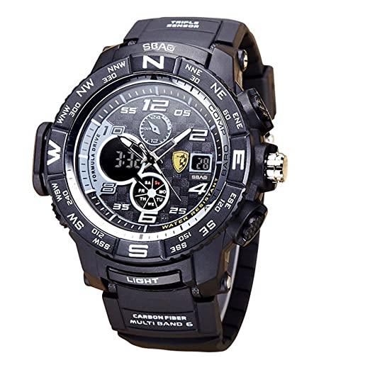 d44d853c16eb HWCOO SBAO Relojes Nuevo Reloj Deportivo de los Hombres Deep Diving  Deeplight Nightlight Reloj electrónico multifunción