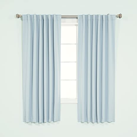 Beautiful Best Home Fashion Thermal Insulated Blackout Curtains   Back Tab/ Rod  Pocket   Sky Blue