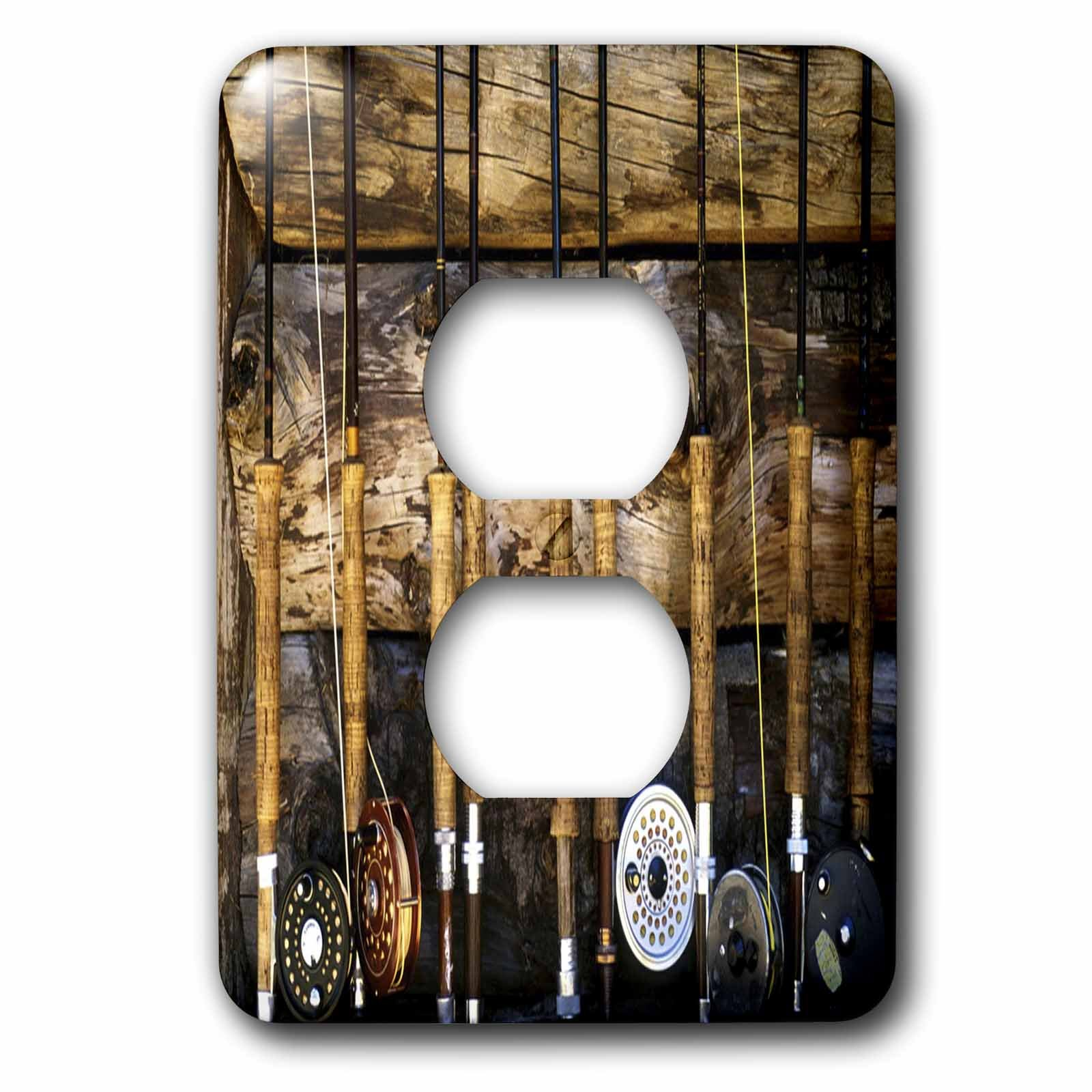 3dRose LLC lsp_60625_6 Country Fishing 2 Plug Outlet Cover by 3dRose (Image #1)