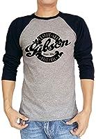 Gibson Custom Art Historic Guitar Logo Baseball Tee Raglan 3/4 Sleeve T Shirt