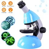 Elecfly Microscope, Kids Microscope 40X- 640X with Science Kits Beginners Microscope Includes 25 Slides for Student…
