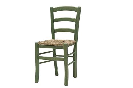 White loft set di 2 sedie legno verde 43x42x88 cm: amazon.it