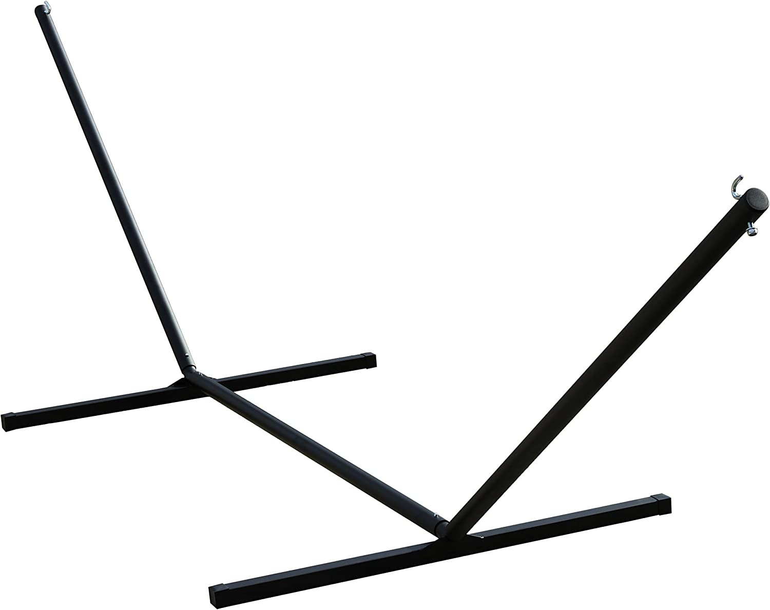 Vivere 15' Heavy Duty 3-Beam Black Hammock Stand