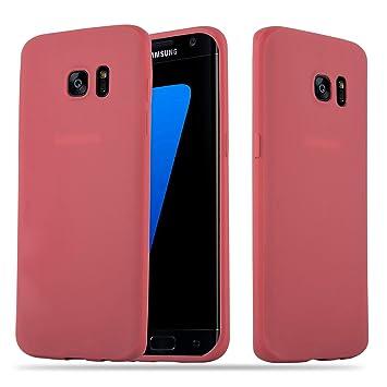Cadorabo Funda para Samsung Galaxy S7 Edge en Candy Rojo – Cubierta Proteccíon de Silicona TPU Delgada e Flexible con Antichoque – Gel Case Cover ...