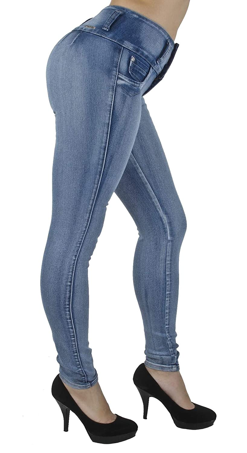 Fashion2Love Plus/Junior Size Colombian Design High Waist Butt Lift Levanta Cola Skinny Jeans G208