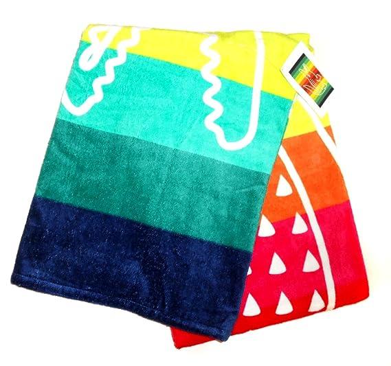 LACOSTE grande con toalla de playa (180 x 92 cm) nuevo con etiquetas: Amazon.es: Hogar