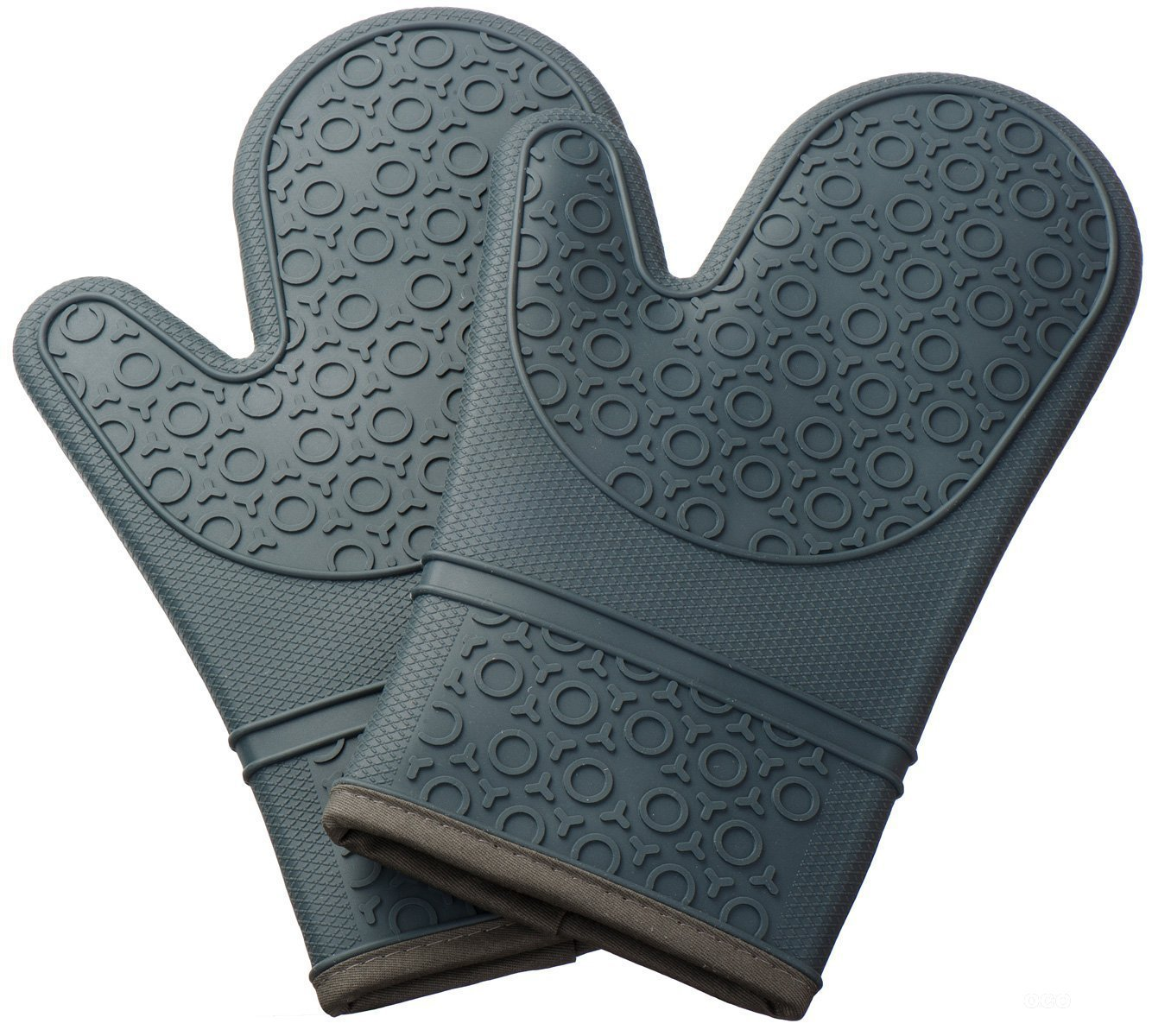 Turnonmyway Silicone Oven Glove with Non-slip Grip Grey 8XL
