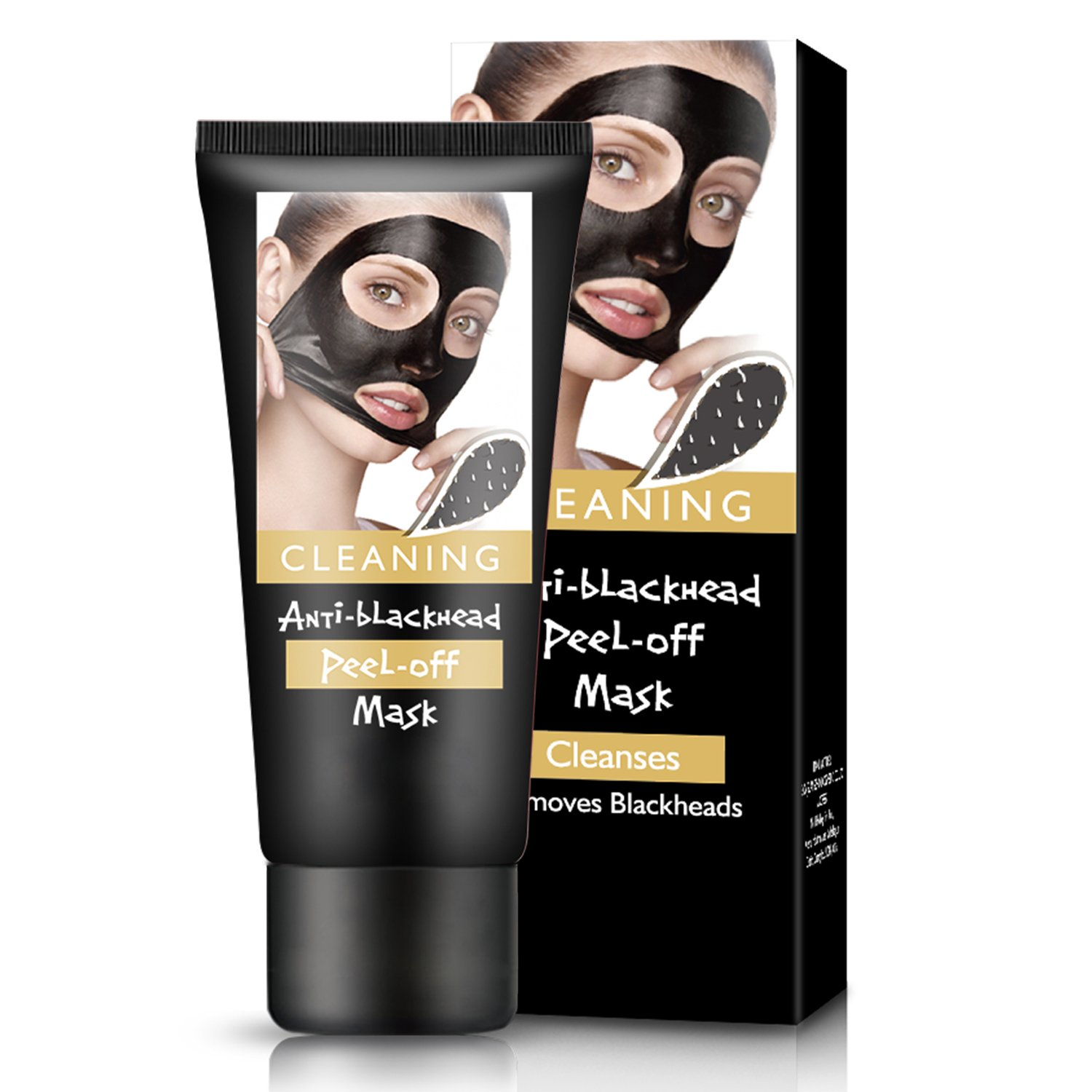 Blackhead Remover Mask Volcanic Mud Deep Clean Skin Mask Onelass Activated Peel off Blackhead Mask Purifying Acne Mud Nose and Face Mask Halloween Mask(Hardback)