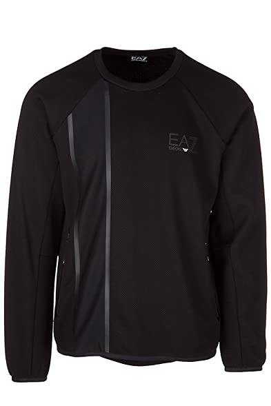 Emporio Armani EA7 Men s Sweatshirt Sweat Black US Size M (US 38) 6YPM85  PJG1Z ab79bf30ab73