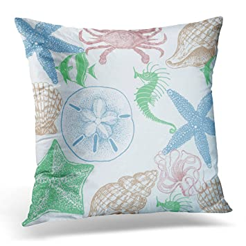 Amazon.com: TORASS Funda de almohada azul playa playa playa ...