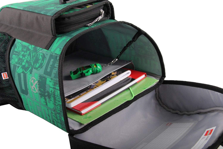 Vert Lego Bags Lego Bags Easy Ensemble Cartable et Accessoires d/école 3 pi/èces Motif Lego Ninjago 40 cm - 400806554 Energy