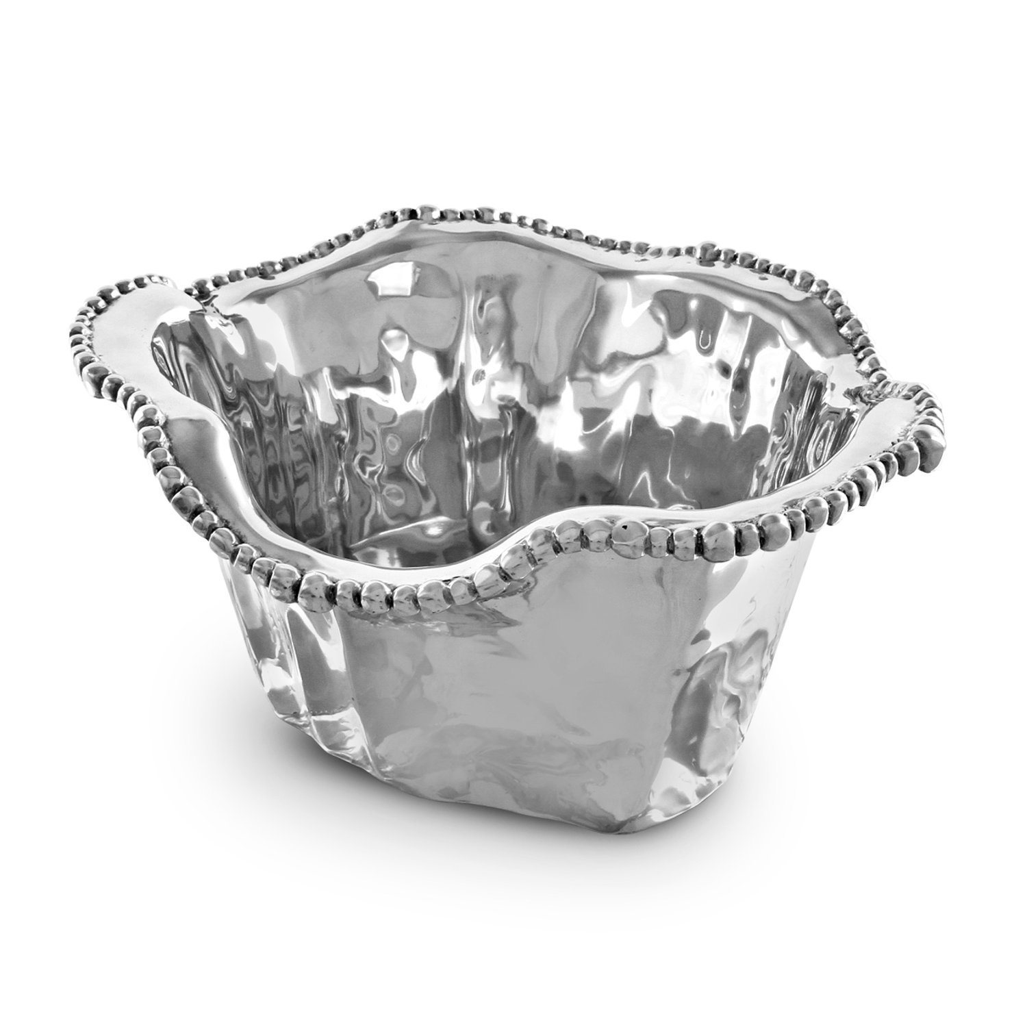 Beatriz Ball Organic Pearl Ice Bucket, Metallic