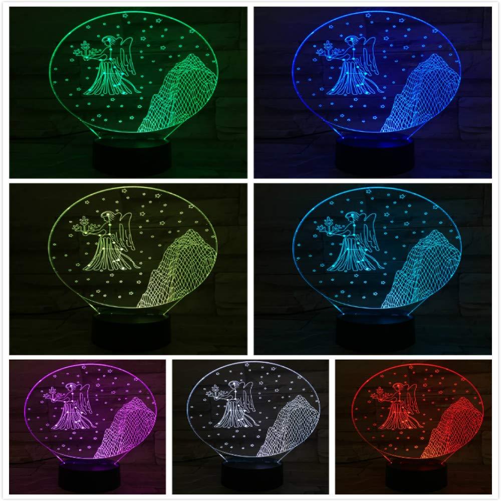 KangYD Luz 3D /Virgo 3D Night Light Led Niños Baby ...