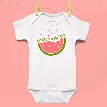e05a11655 Amazon.com : The Neighborgoods One in a Melon Onesie, 6-12 Months : Baby