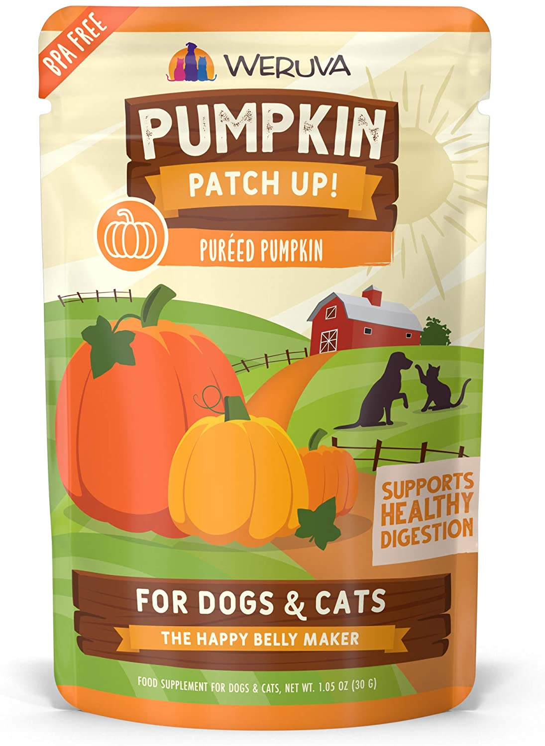 Weruva Pumpkin Patch Up! Pumpkin Pouches for Dogs & Cats