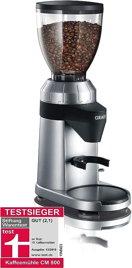Graef CM800 - Molinillo de café, 128 W, Color Plateado: Amazon.es ...