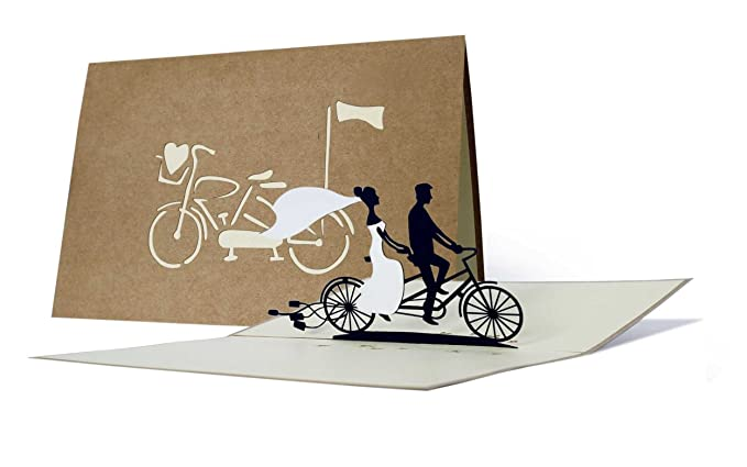 Partecipazioni Matrimonio Bicicletta.Partecipazioni Matrimonio 3d Eleganti Inviti Matrimonio Pop Up