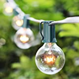 Amazon Price History for:100FT G40 Globe String Lights with 102 Bulbs Candelabra Screw Base (E12) for Indoor/Outdoor Holiday Decoration, Garden, Party, Backyard, Bistro, Pergola (2 Pack of 50FT)