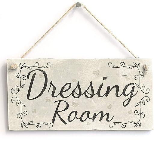 Shunry Dressing Room Colgar en la Pared Letrero de Placa ...