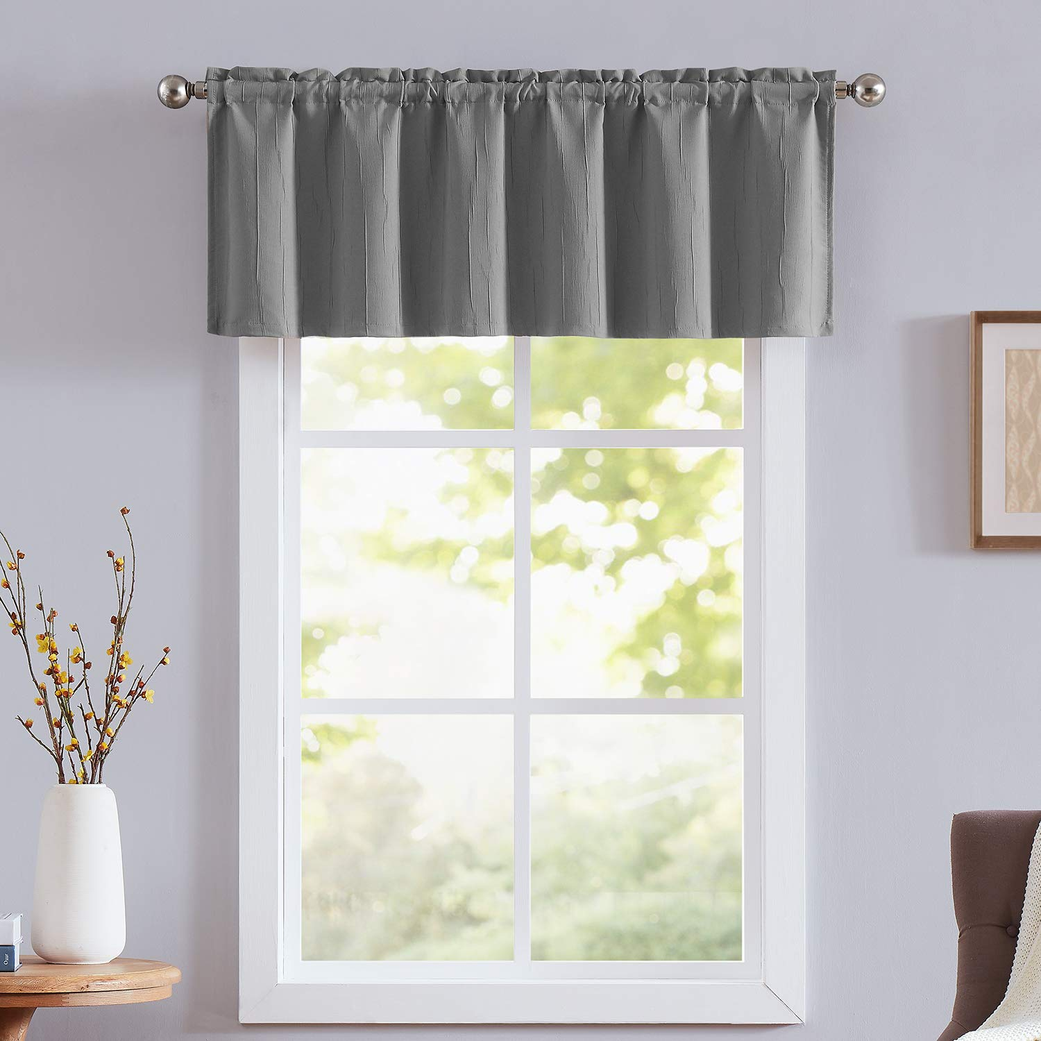 """NATWIN Linen Floral Curtains for Bedroom 96 inches Long Room Darkening Moderate Half Blackout Window Drapes for Living Room Beige 42/"""" Width x 2 Panels"""