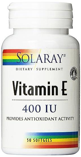 Vitamina E 50 perlas de 400 IU de Solaray: Amazon.es: Salud y cuidado personal