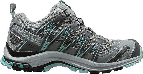 Salomon XA Pro 3D, Calzado de Trail Running para Mujer, Gris ...