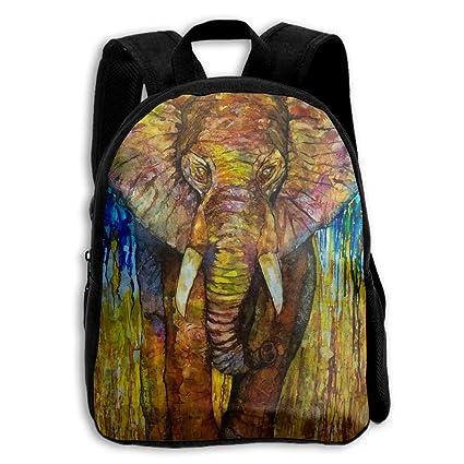 839b94d14d Image Unavailable. Image not available for. Color  AHOOCUSTOM Elephants 3D  Print Custom Unique Casual Backpack Schoolbag Shoulder Bag for Boys Teen  Girls ...