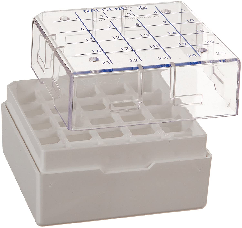 Nalgene Ampule Box, 25 vials per box, for Locator 8 Plus systems (Case of 80) Thermo Scientific CS509X3