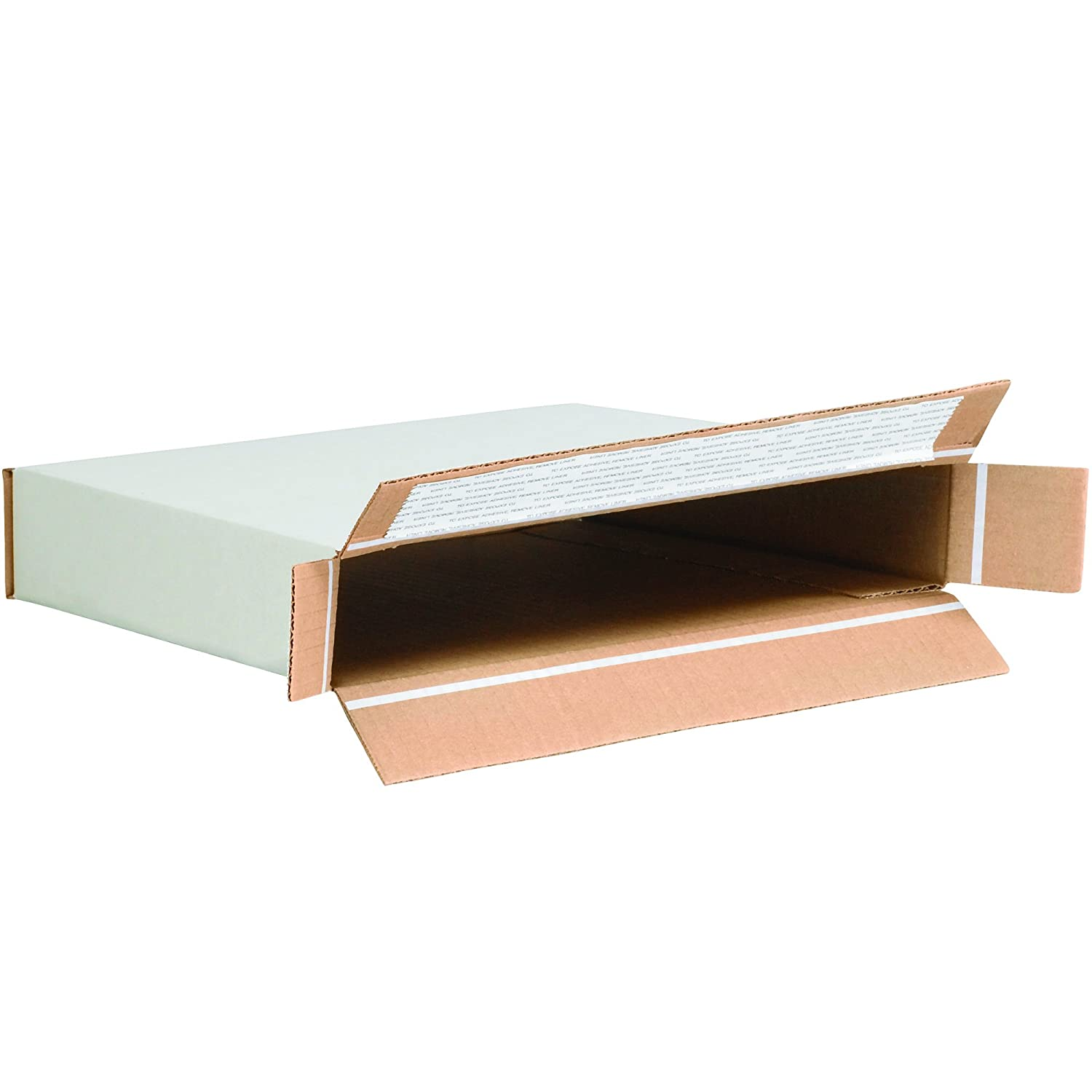 Large White Mailing Boxes Corrugated Die-Cut Boxes with Handles Pack of 10 18 1//4 x 11 3//8 x 4 1//2 Inches Boxes Fast BFMCC4 Cardboard Carrying Cases