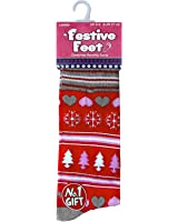 Ladies Festive Christmas Socks Available In a Variety Of Fun Designs (UK 4/8, EUR 37/42)
