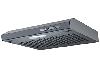 Cookology Wall Mounted Kitchen Visor Cooker Hood | 50cm Extractor Fan in  Stylish Black