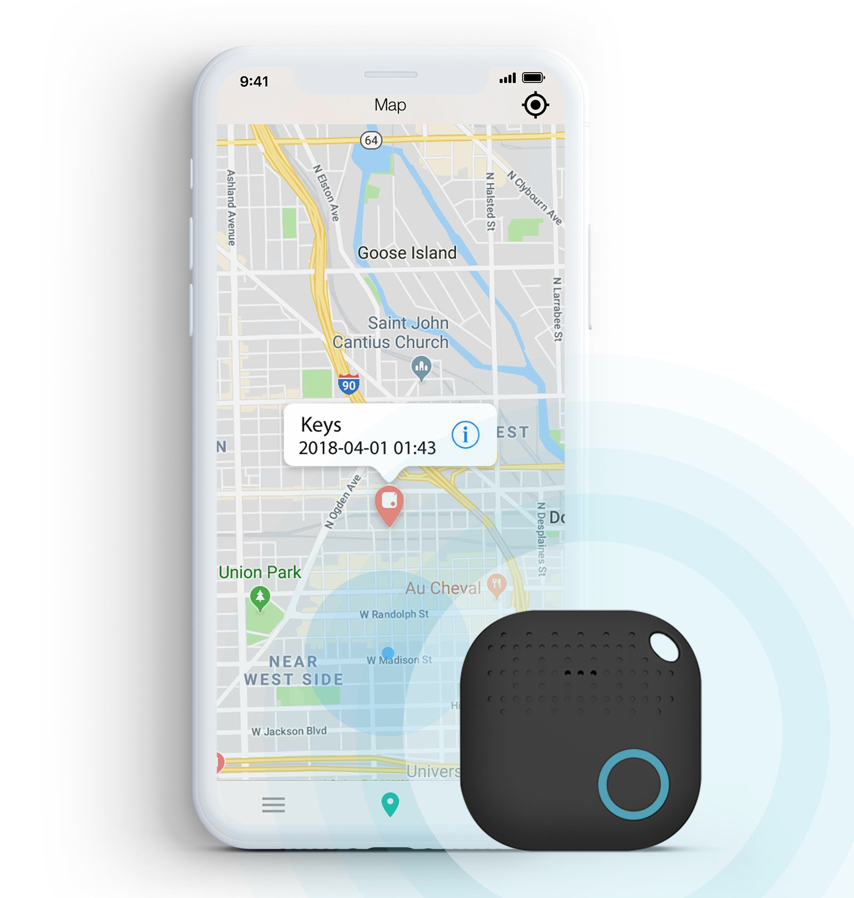 Key Finder Locator - Cell Phone Finder Locator - Wallet Finder - Pet Finder - Smart Tracker - Key Phone Finder - Bluetooth Tracker for Lost Items - Anti-Lost Alarm - iOS & Android App for Lost Items by Nuva Goods
