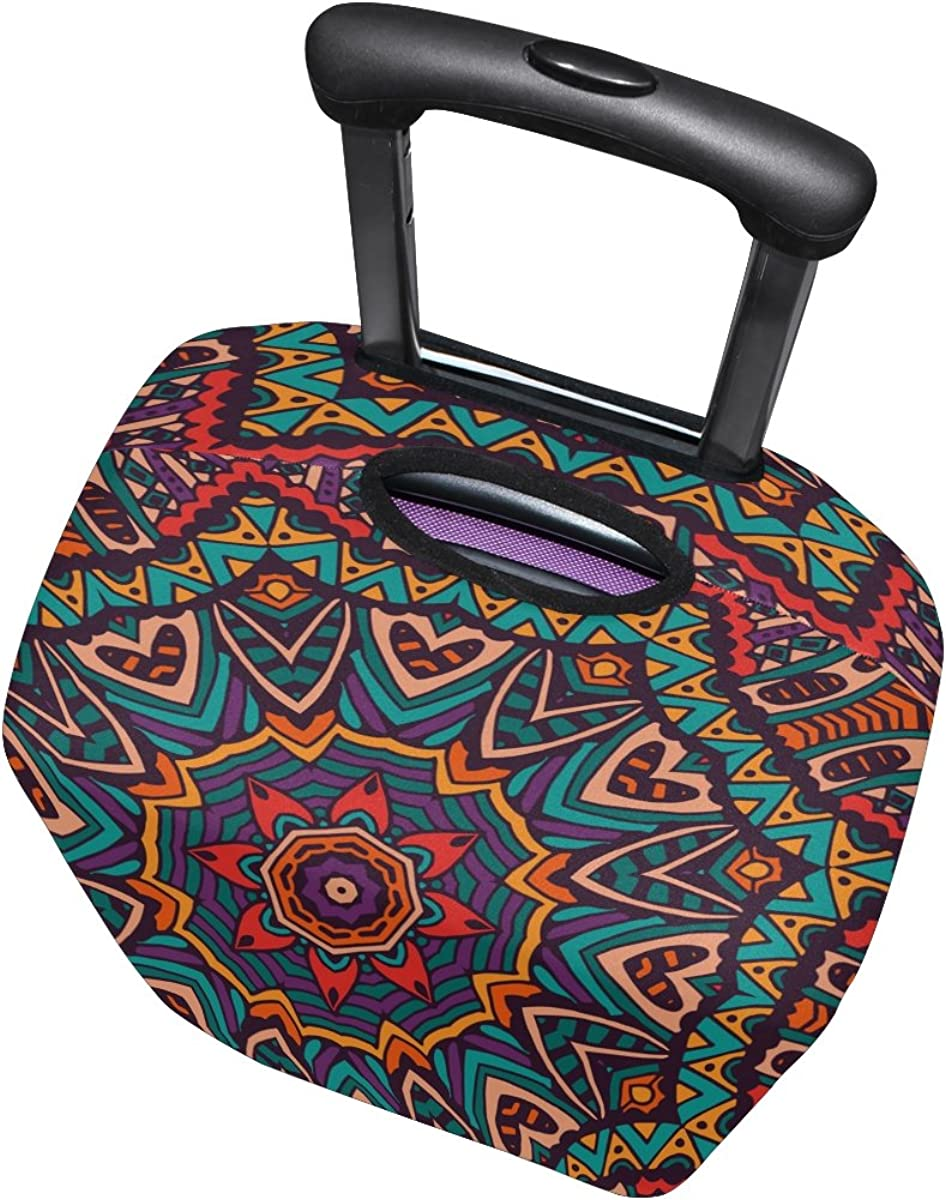 LAVOVO Tribal Ethnic Floral Luggage Cover Suitcase Protector Carry On Covers