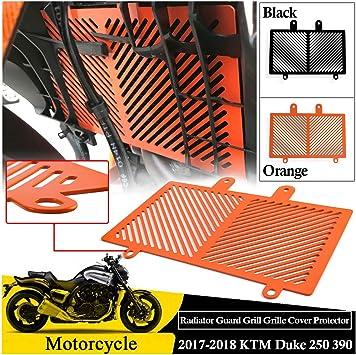 Orange Metal Performance Radiator Guard Cover Grill Protector for KTM Duke 390 17-18