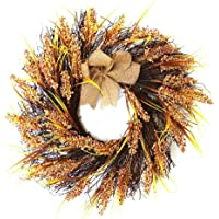 Thaksgiving Decorative Wreath Harvest Garland Fall Wreath Artificial Autumn Wreath Grain Harvest Wreath Door…